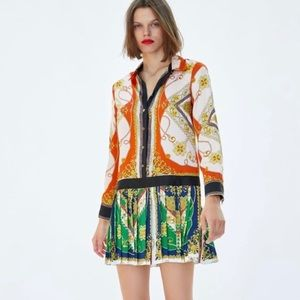 Chain Patchwork Versace style Shirtdress